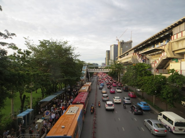 Leaving the market and heading back home. As you can see, Bangkok has crazy traffic, September 2, 2016