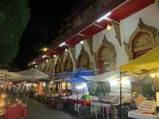 Lots of stalls ready to sell out front of this beautiful (temple?) old structure, September 4, 2016