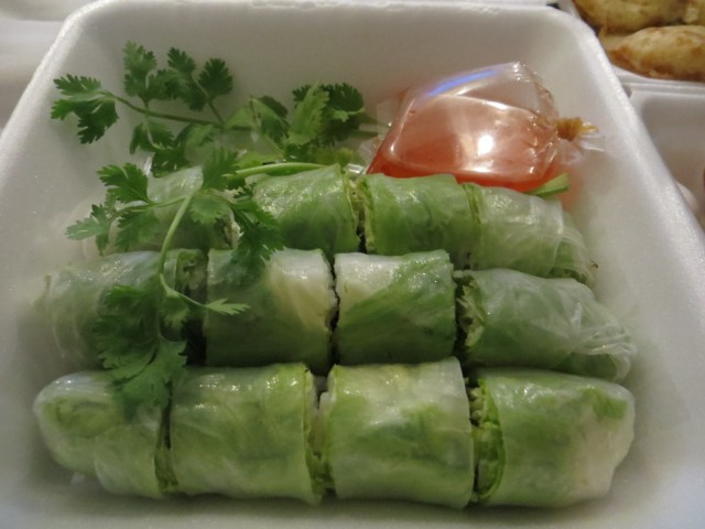 Healthy spring roll-type thingies, September 11, 2016
