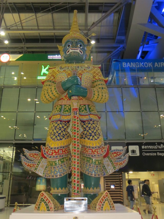 Statue at the airport, September 12, 2016