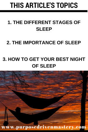 Sleep - Purpose Driven Mastery