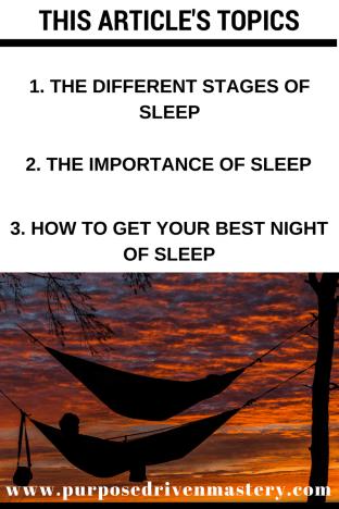 Sleep - Purpose Driven Mastery