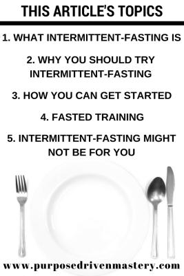 Intermittent-Fasting - Purpose Driven Mastery