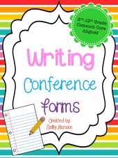 Writing Conference Forms Cover