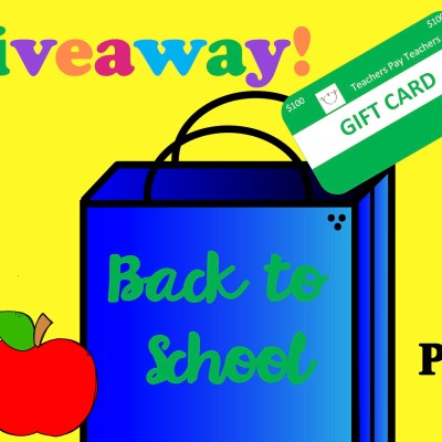 The Back to School $100 TpT Giveaway is Here!