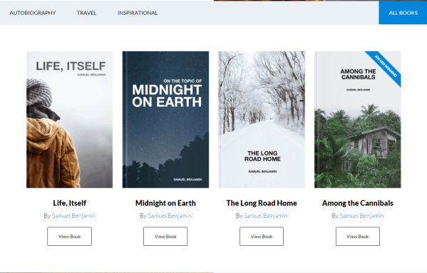 Author Pro- Author page of your website