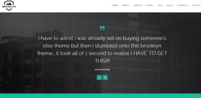 Brooklyn- Fullwidth background for testimonials of your site