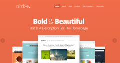 Nimble- Fullscreen Homepage slider is provided by this theme