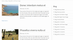 Striking MultiFlex- Blog layout with right sidebar showing other blog layouts