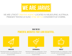About us section of Jarvis theme