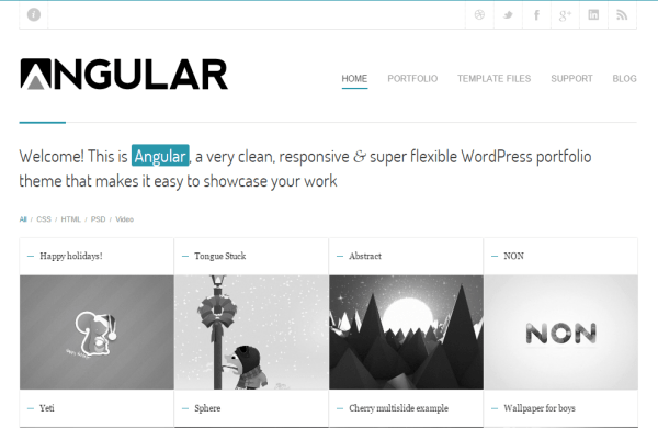 Angular- Featuring Portfolio with beautiful hover effects