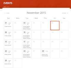 ChurcHope- Event's calender