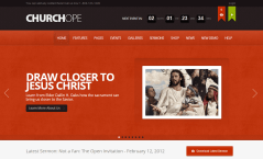 ChurcHope- Front page featured with Responsive revolution slider