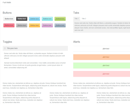 Full width page of Gridlocked theme