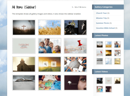 Gallery Images with sidebar of Risen