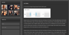 Left sidebar page of photolux