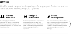 Services offered by Daisho theme