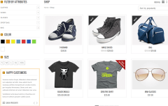 Shop page of Bazar Shop theme