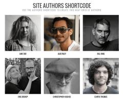 SimpleMag- Authors page using shortcode