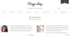 Testimonial-Mayashop-WordPress-theme