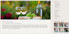 White Rock- Blog page designed with right sidebar and custom widgets