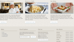 White Rock- Home page featured with Restaurant highlights