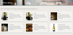 White Rock- Showing menu category page built with this theme