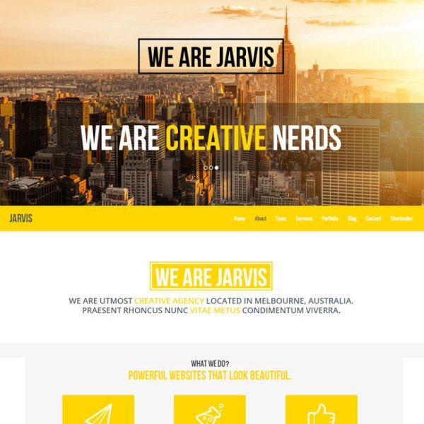 Jarvis – Parallax one page WordPress theme