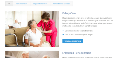 Care_services provides you with different types of services according to patient reports.