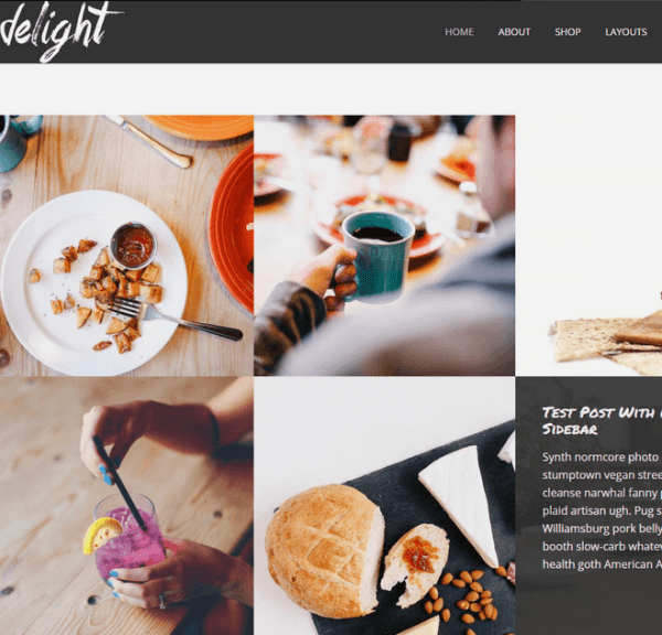 Delight- Fullscreen WordPress Portfolio Theme