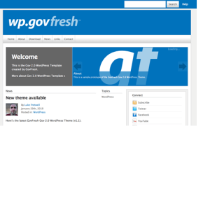 GovFresh WP- A Free WordPress Theme For Governments