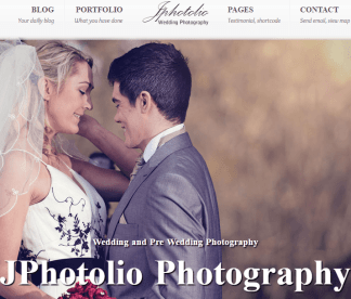 JPhotolio-Responsive Wedding Photography WP Theme