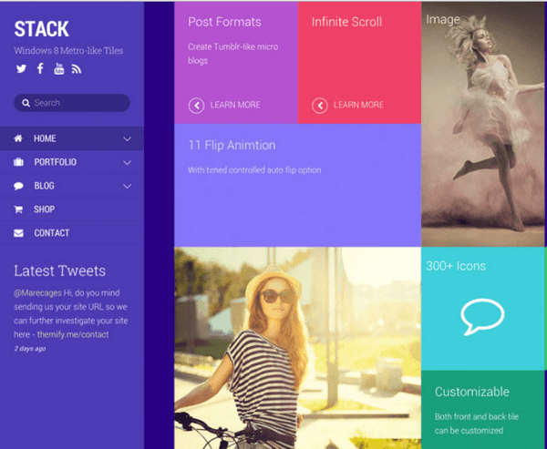Stack – A fluid & responsive WordPress theme