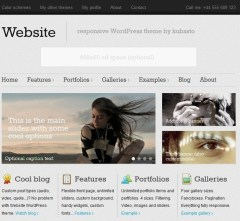 Website – Tablet Version of Website Theme