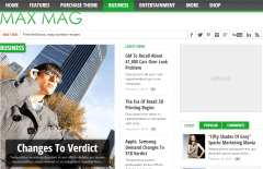 Max Mag-business blog designed with 3 different  widget areas