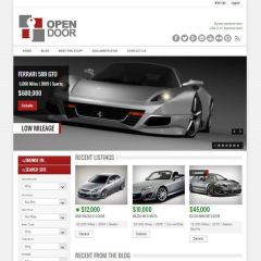 OpenDoor- Responsive Real Estate and Car dealership