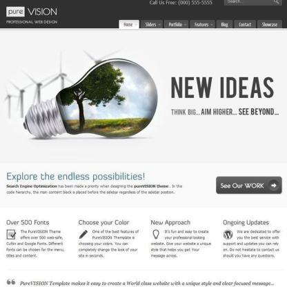 PureVISION- A SEO optimised WordPress Theme