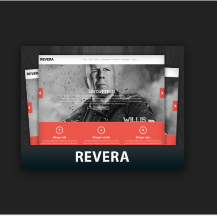 Revera – free premium wordpress theme based on the Bootstrap 3 framework.