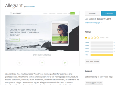 Allegiant WordPress Page