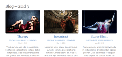 Blog-grid 3 page of Parallax theme