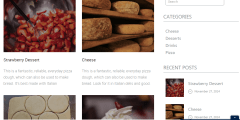 Blog page of Cuisinier theme