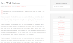 Blog posts of Swank Theme with sidebar