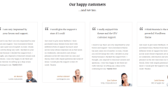 Boemia- Boxed layout of testimonials