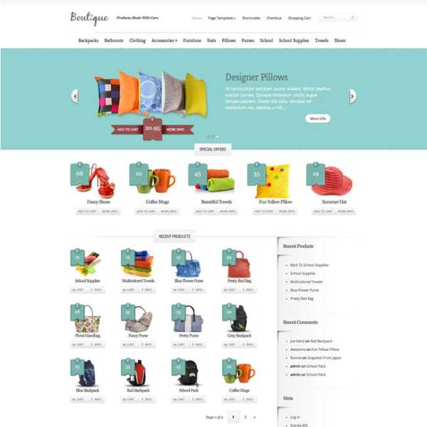 Boutique-WordPress-Theme-Feature