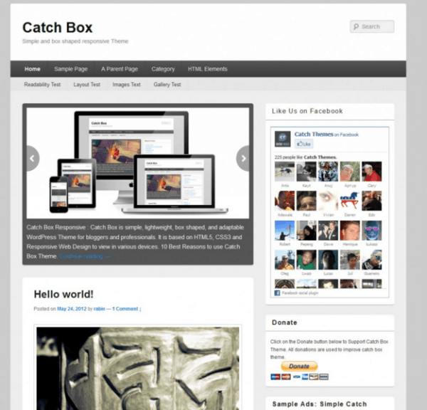 Catch Box is a Lightweight, Box shaped, Clean Responsive WordPress Theme