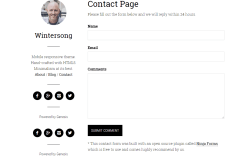 Contact page of Wintersong Pro theme