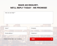 Contact page of agency pro