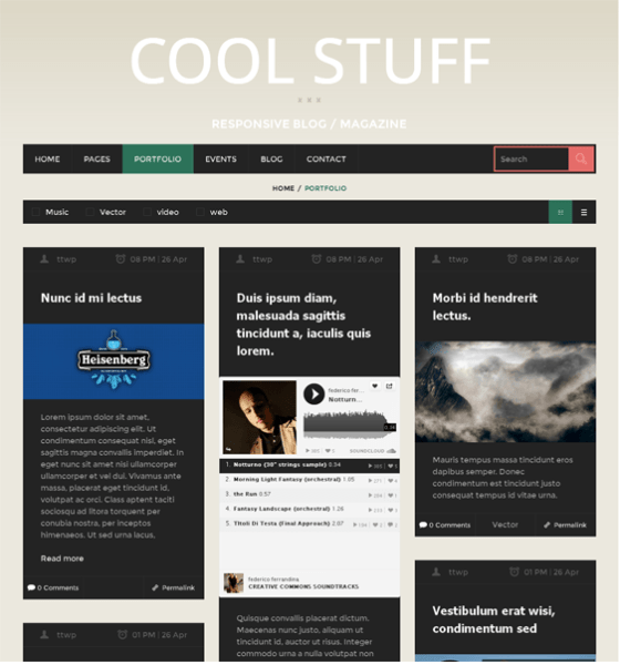 CoolStuff – MagazineBlog WordPress theme