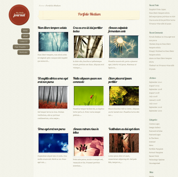 DailyJournal - fully responsive personal blog.