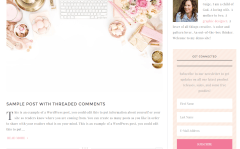 Darling Theme Page layout with right sidebar